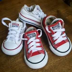 Baby Boys  Converse bundle  of  2 pairs sneakers